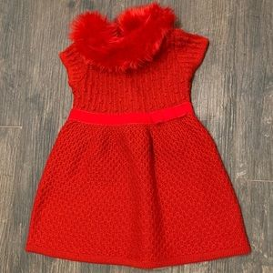 Janie and Jack Dresses - Janie and Jack faux fur sweater dress with bow